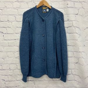 Northern Knitters Mens Blue Wool Sweater